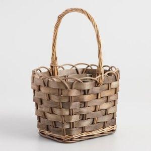 World Market Scalloped Rim Handle Basket